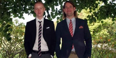 Rollemodel Kasper og Theis til Theis' konfirmation