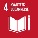 Piktogram for verdensmål 4 - kvalitetsuddannelse